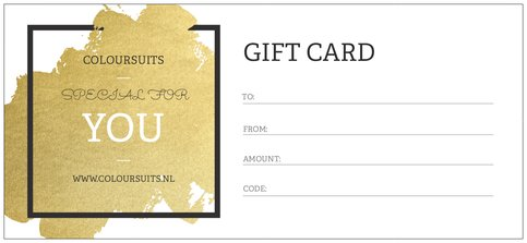 Coloursuits gift card