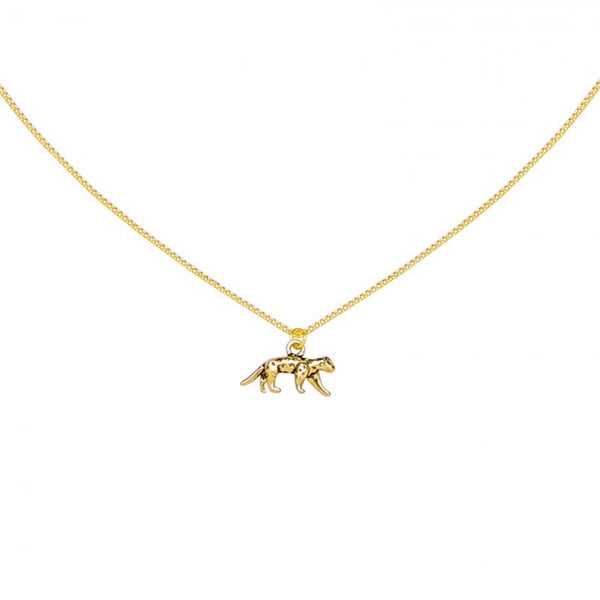 Lucky leopard necklace gold