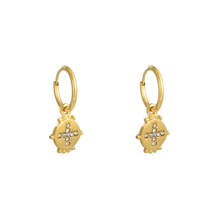 Festive earrings gold