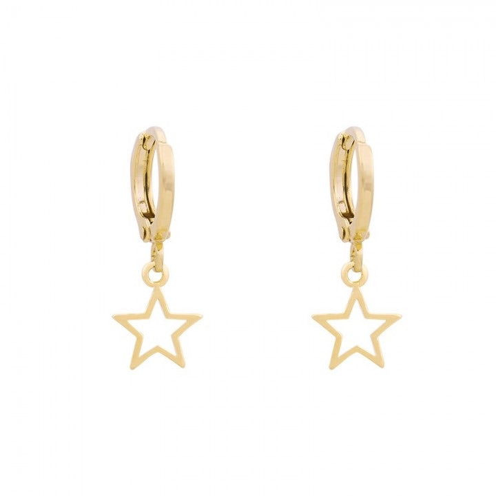 Galaxy star earrings gold