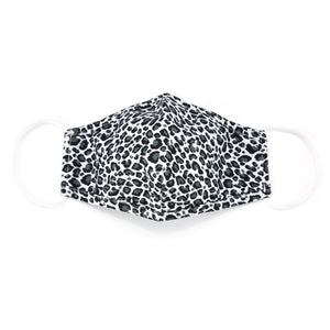 Face mask leopard white