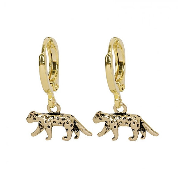 Lucky leopard earrings gold