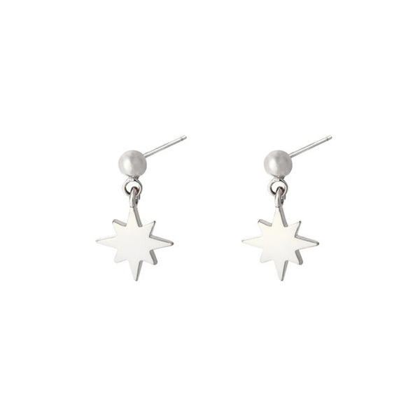 Starry night earrings silver
