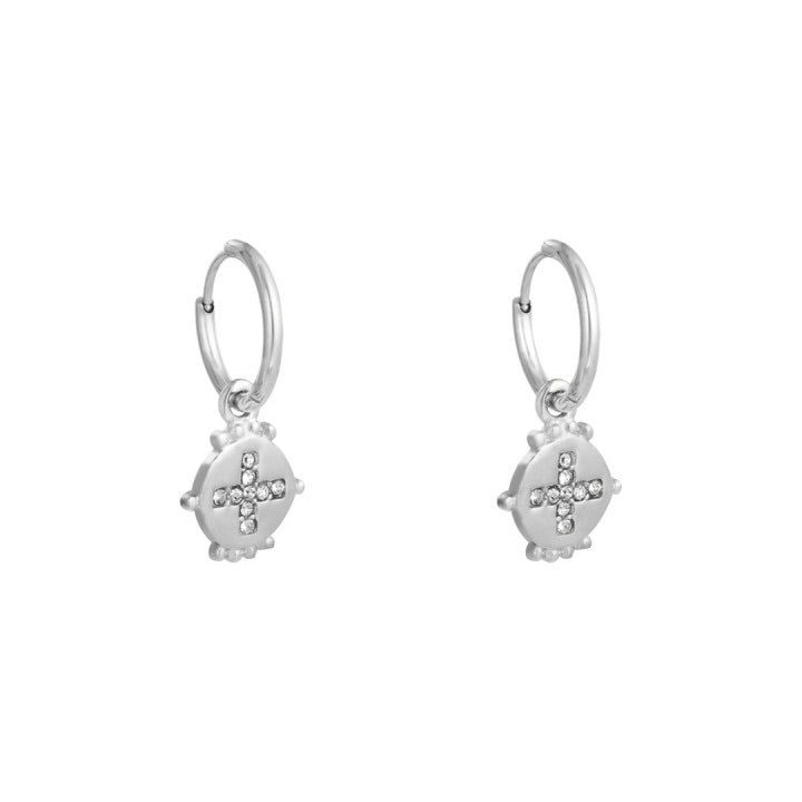 Festive earrings silver