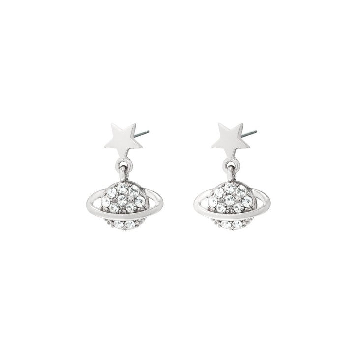 Planet earrings silver I
