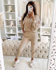 Comfy cargo two piece nude