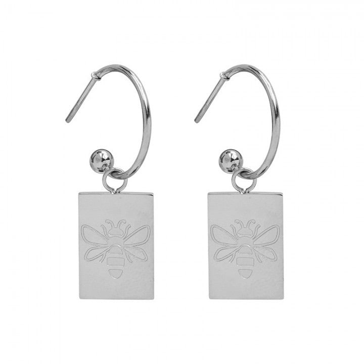 Queen bee earrings silver