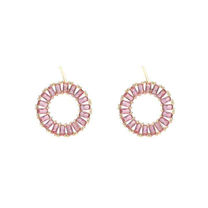 Colour earrings pink