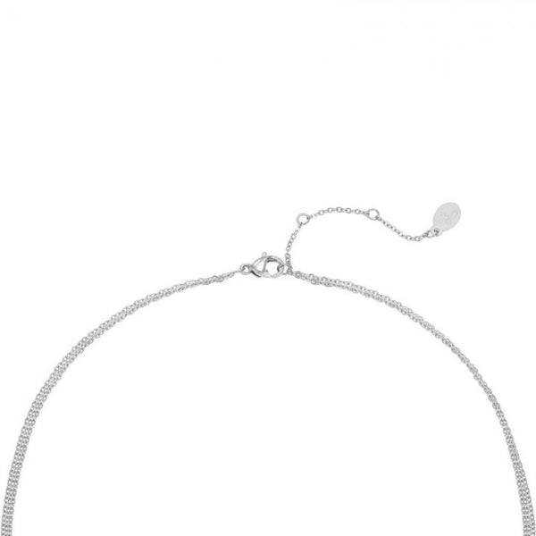 Delicate necklace silver