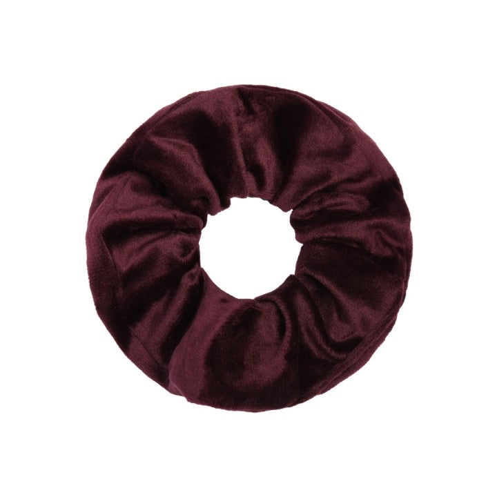Velvet scrunchie wine red