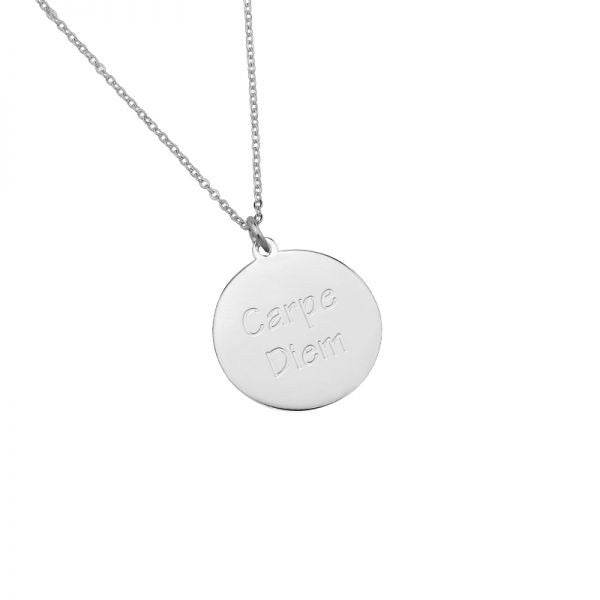 Carpe diem necklace silver