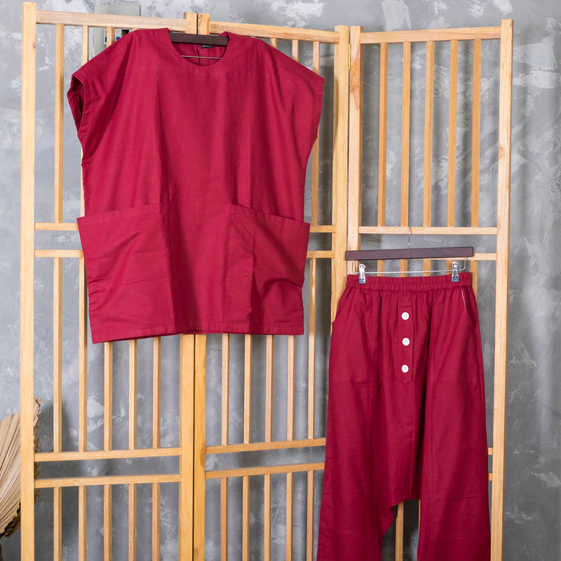 Suits With Doremon Pocket Maroon