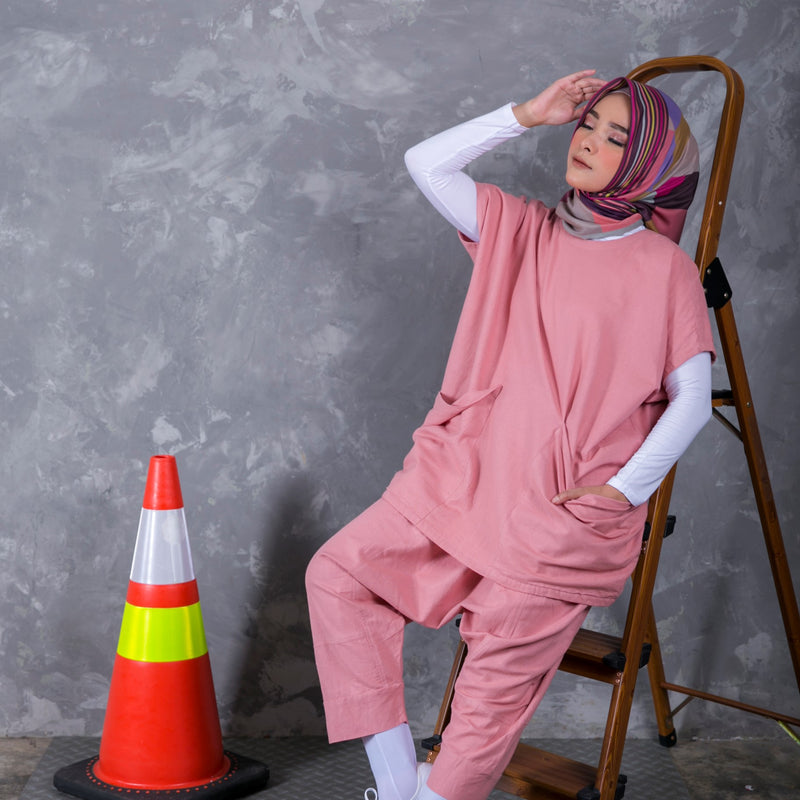 Suits with Doremon Pocket Pink
