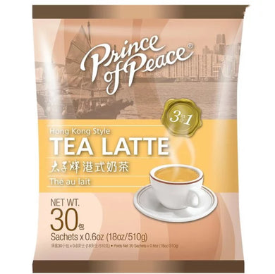 PRINCE OF PEACE Hong Kong Style Tea Latte (30 count) 18oz       太子牌 港式奶茶 (30包入) 510g