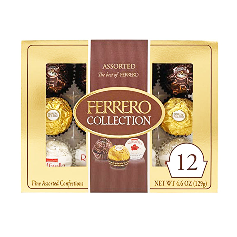 费列罗 三种口味巧克力(12颗入)129g FERRERO Fine Assorted Confection Collection (12 count) 5.29oz