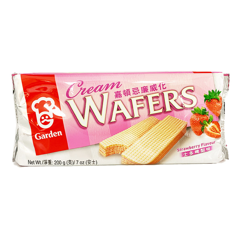 嘉顿 忌廉威化 草莓味 200g GARDEN Cream Wafers Strawberry Flavor 7oz