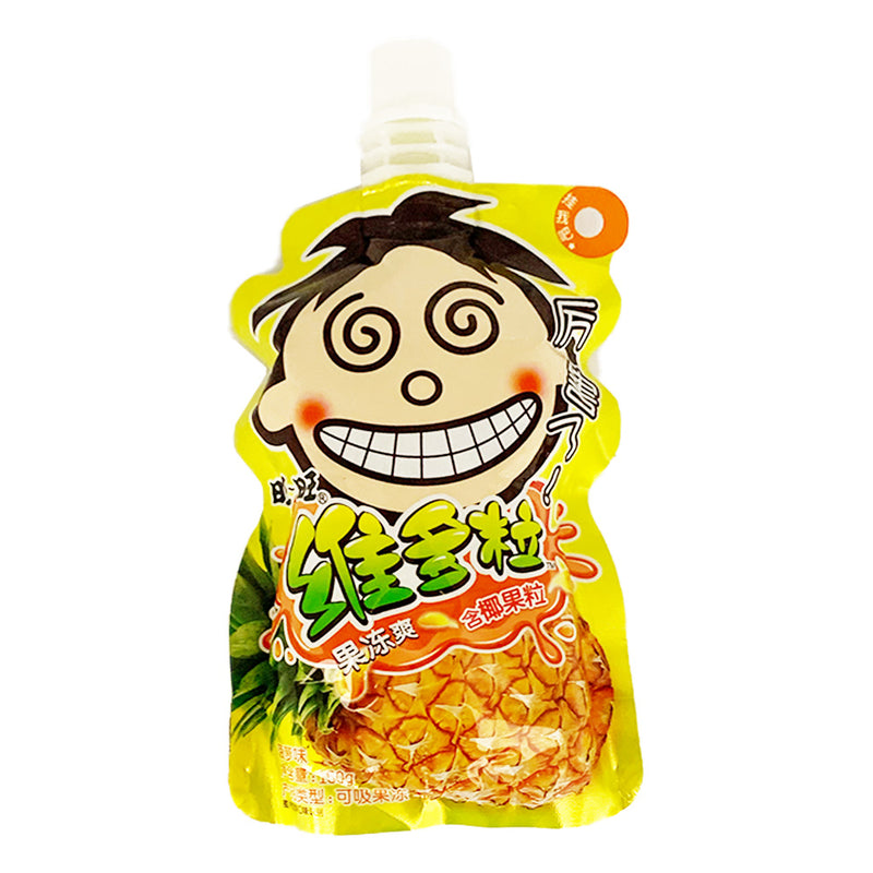 旺旺 维多粒果冻爽 菠萝味 150g WANT WANT Jelly Drink Pineapple Flavor 5.29oz