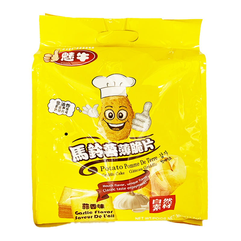 魅牛 马铃薯爆脆片 蒜香味 360g MEINIU Potato Chips Garlic Flavor 12.7oz
