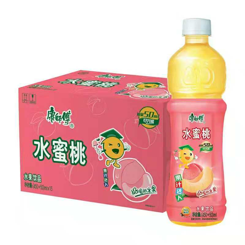 MASTER KONG Peach Beverage 16. 9fl.oz 康师傅 水蜜桃饮品 500mlKeywords:Master Kong, peach beverage, drinks