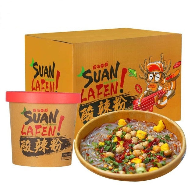 sour and spicy flavored vermicelli, original flavor, instant noodles, instant food 酸辣粉