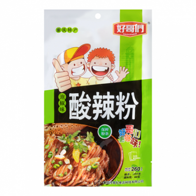 HAOGEMEN Sour and Spicy Flavored Vermicelli pickled pepper flavor 9.17oz 好哥们 酸辣粉 泡椒味 260g