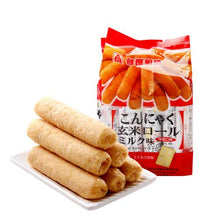 Load image into Gallery viewer, PEI TIEN Brown Rice Roll milk flavor 5.64oz 北田 蒟蒻糙米卷 牛奶味