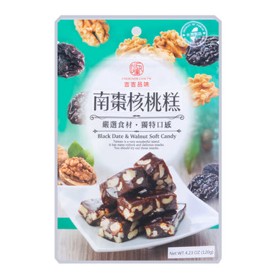CHERCHER Black Date Walnut Soft Candy 4.23oz 吉吉品味 南棗核桃糕
