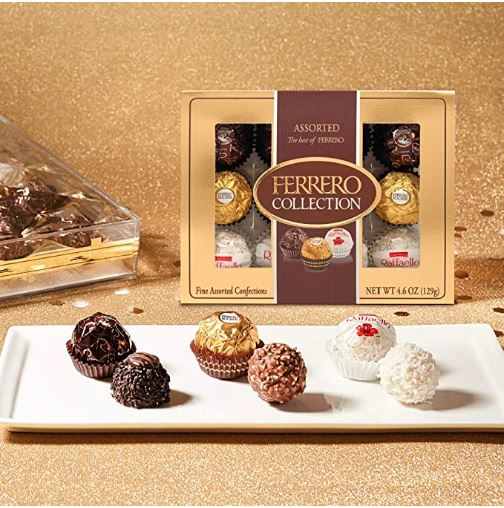 FERRERO COLEECTION Three Flavors(12 count)4.55oz 费列罗 三种口味巧克力(12颗入)129g