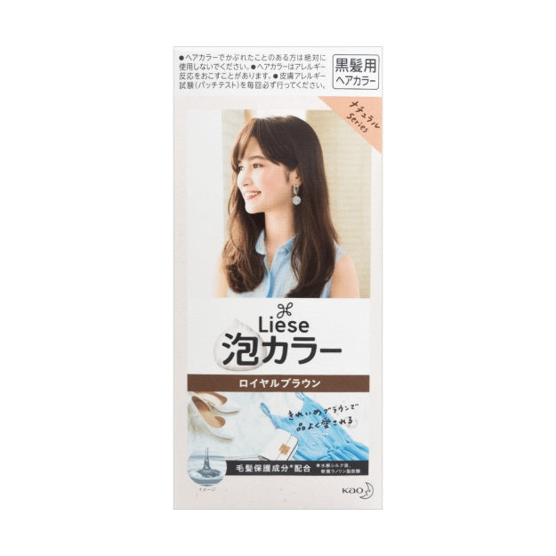 花王 泡沫染发剂 栗子咖色 108g KAO Liese Foaming Hair Dye - Chestnut Brown 6.09oz