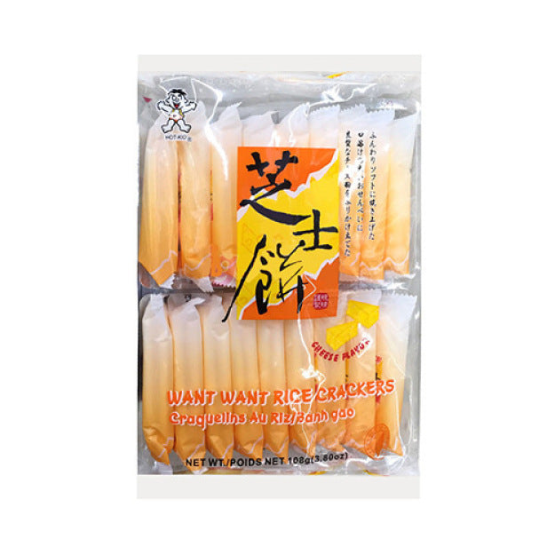 WANT WANT Rice Cracker cheese flavor 3.8oz 旺旺 仙贝芝士饼