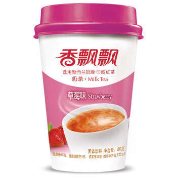 香飘飘 草莓味奶茶 (3杯入) 240g Keywords:Xiang Piao Piao, milk tea, strawberry flavor, drink mixes Related Keywords:boba, bubble tea, 兰芳园, 鹿角巷