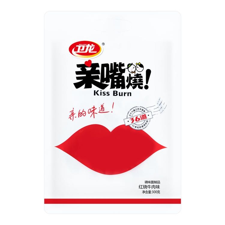 卫龙 亲嘴烧 红烧牛肉味 300g WEILONG Mixed Spiced Gluten Sticks 10.58oz
