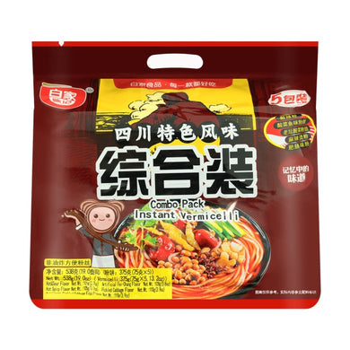 BAIJIA CHENJI Sichuan Specialties Vermicelli mixed flavors (5 count) 18.98oz 白家陈记 四川特色风味粉丝 综合装 (5袋入)538g
