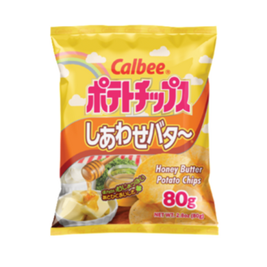 CALBEE Potato Chips honey butter flavor, 卡乐比 薯片 蜂蜜黄油味