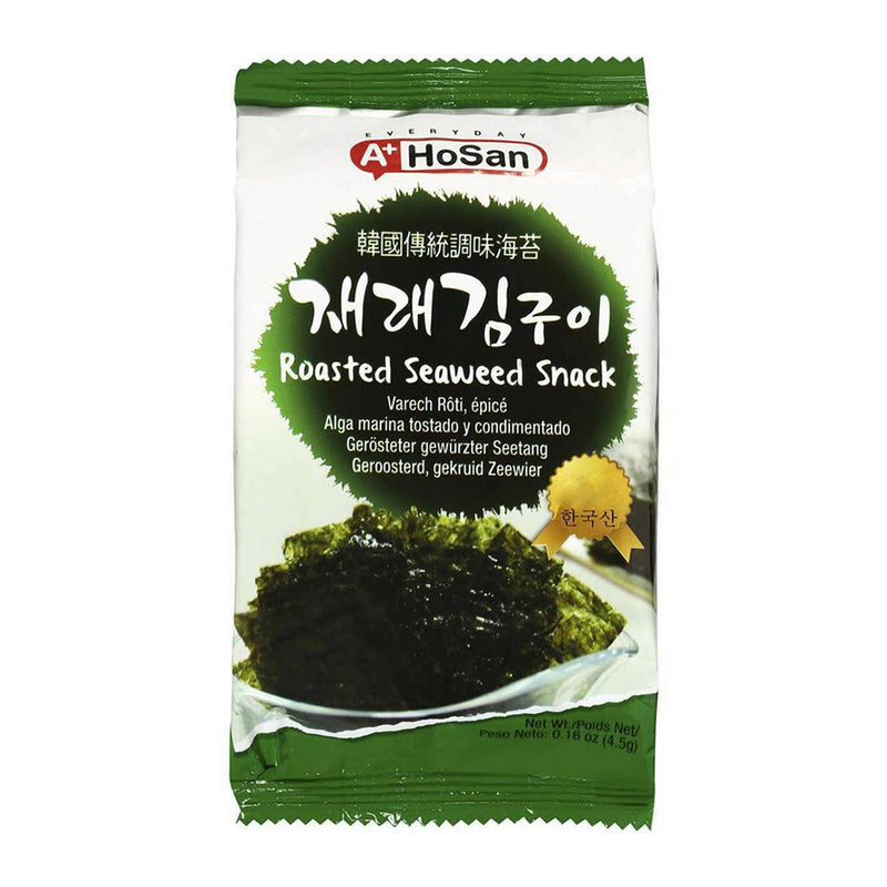 HoSan 韩国传统调味海苔(12包入)54g HOSAN Original Roasted Seaweed Snack (12 count) 1.9oz
