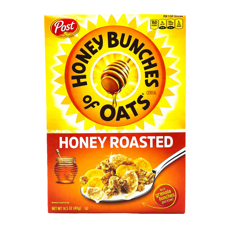 Post 蜂蜜混合麦片 蜂蜜焗烤味 411g Honey Bunches of Oats honey roasted 14.5oz