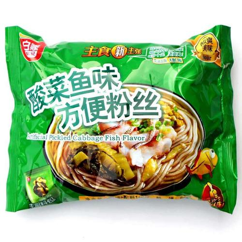 BAIJIA CHENJI instant vermicelli pickled fish flavor (5 count) 19.4oz 白家陈记 酸菜鱼味粉丝 (5袋入) 550g