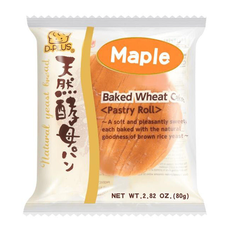 D-Plus 天然酵母面包 枫糖味 80g Maple Flavored Bread 2.82oz