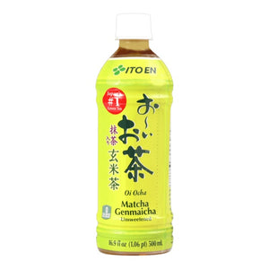 伊藤园 抹茶无糖玄米茶 500ml Keywords:Ito En, matcha genmaicha unsweetened, beverage & dairy, drinks Related Keywords:ito en loose leaf, tea bags, 立顿, 亚利桑那