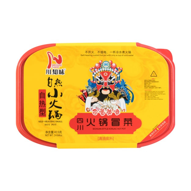 川知味 自热小火锅 四川火锅冒菜味 415g  SZECHUAN FLAVOR Self-Heating Small Hot Pot Sichuan Style 14.64oz