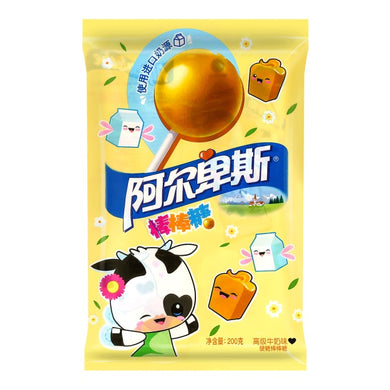 ALPENLIEBE Lollipop milk flavor 7.05oz 阿尔卑斯 棒棒糖 高级牛奶味 200g