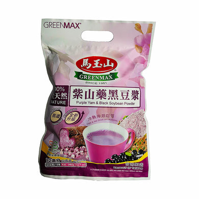 马玉山 紫山药黑豆浆 (12包入) 360g Keywords:Greenmax, purple yam & black soybean powder, drink mixes Related Keywords:nutrition food, powder, 五谷磨房, 秦老太