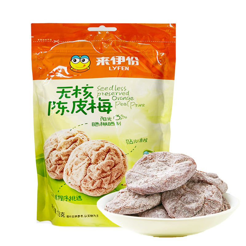 来伊份 无核陈皮梅 118g LYFEN Preserved Orange Peel Prune (Seedless) 4.16oz