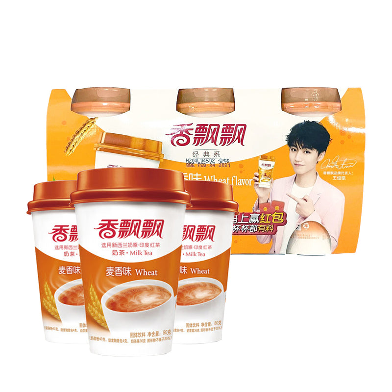 香飘飘 麦香奶茶 (3杯入) 240g XIANG PIAO PIAO Classic Milk Tea (3 count) 8.11oz