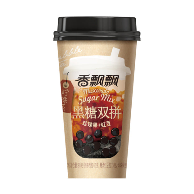 香飘飘 黑糖双拼奶茶 90g XIANG PIAO PIAO Brown Sugar Milk Tea - Bubble & Red Bean 3.17oz