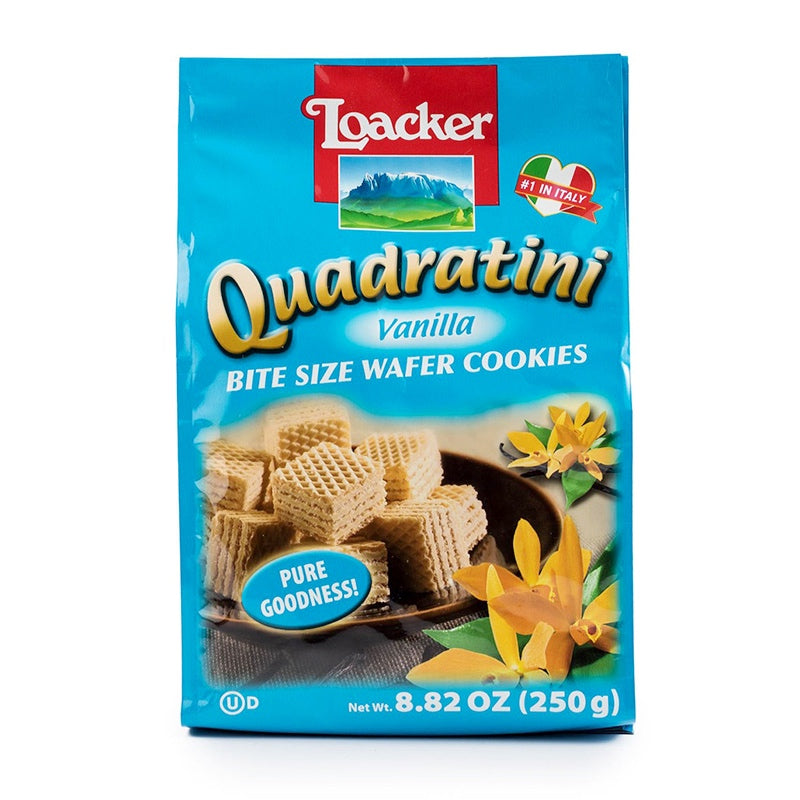 莱家 威化饼干 香草味 250g LOACKER Quadratini Vanilla Wafer 8.82oz