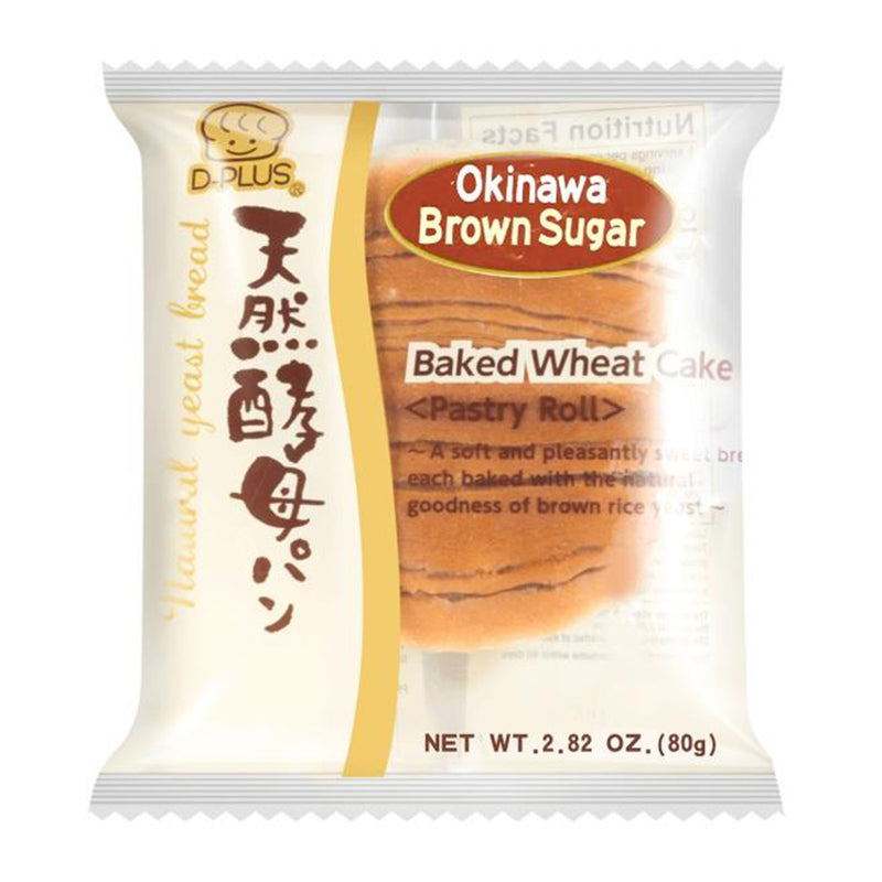 D-Plus 天然酵母面包 冲绳黑糖味 80g Okinawa Brown Sugar Bread 2.82oz