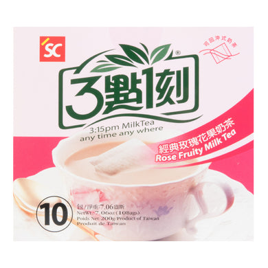 三点一刻 经典玫瑰花果奶茶 (10包入) 200g Keywords:3:15pm Milk Tea, rose fruity, drink mixes Related Keywords:boba, bubble tea, 兰芳园, 鹿角巷