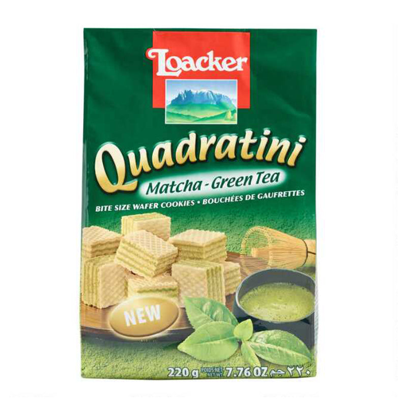 莱家 威化饼干 抹茶味 220g LOACKER Quadratini Matcha Wafer 7.76oz