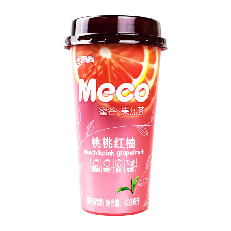香飘飘 蜜谷 桃桃红柚 400ml XIANG PIAO PIAO Meco - Peach & Pink Grapefruit Tea 13.52fl.oz